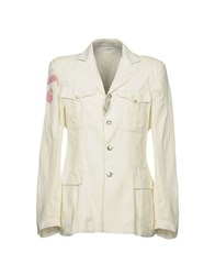John Galliano Blazers White