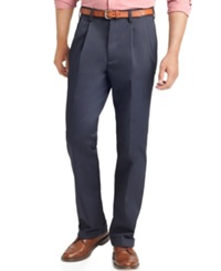 Izod Big And Tall Pants Double Pleat Pants Navy