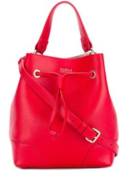Furla 'Stacy' Bucket Tote Red