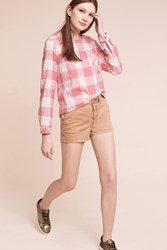 Anthropologie Shortie Chino Shorts Cedar