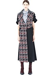 Aganovich Long Tweed Panel Coat