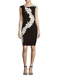 Jax Floral Lace Sheath Dress Black