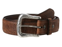 Ariat Western Basic Belt Adobe Clay Perforated Edge Men's Belts Brown