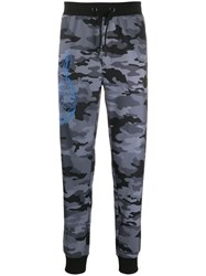 Plein Sport Camouflage Track Pants Grey
