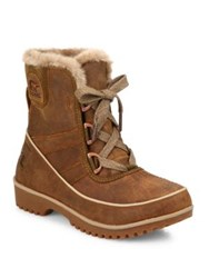 Sorel Tivoli Ii Premium Leather And Faux Fur Boots Autumn Brown