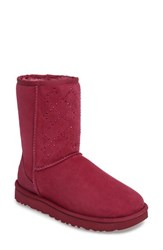 Uggr Women's Ugg Classic Short Crystal Genuine Shearling Lined Boot Lonely Hearts Suede