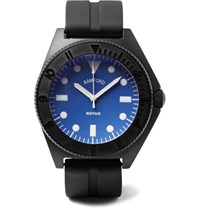 Bamford Watch Department Mayfair Stainless Steel And Rubber Black