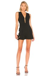 Bcbgmaxazria Open Back Romper Black