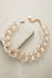Anthropologie Speckled Lucite Choker Necklace Gold