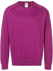 Massimo Alba Ribbed Trim Jumper Purple