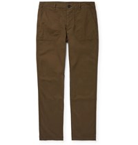 Paul Smith Ps Cotton Blend Trousers Green