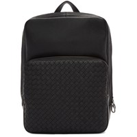 Bottega Veneta Black Intrecciato Deerskin Backpack