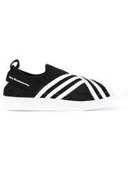 Adidas By White Mountaineering Superstar Slip On Sneakers Men Cotton Rubber 9.5 Black