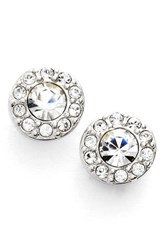 Women's Givenchy Small Crystal Stud Earrings Silver