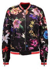 Replay Bomber Jacket Black Multicoloured