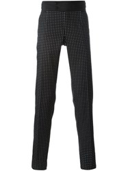 Dolce And Gabbana Jacquard Formal Trousers Black