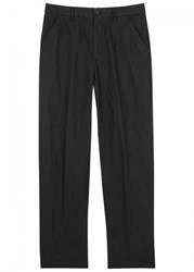 Our Legacy Black Washed Linen Blend Chinos