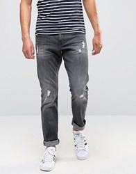 Esprit Slim Fit Jean With Distressing Grey Destroyed