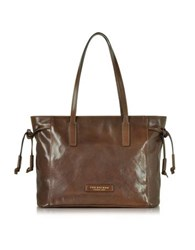 The Bridge Passpartout Dark Brown Leather Tote