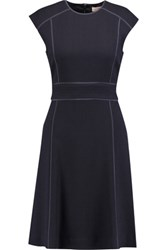 Tory Burch Wayde Wool Crepe Dress Midnight Blue