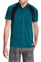 Burnside Spread Collar Raglan Polo Green