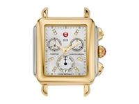 Michele Deco Two Tone Diamond Dial Silver Gold