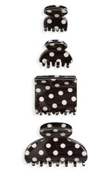 Tasha Set Of 4 Polka Dot Jaw Clips