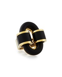 18K Gold Ebony Buckle Ring David Webb