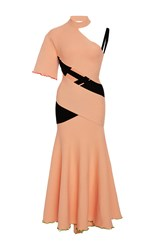 Proenza Schouler Bandage Knit Asymmetrical Dress Pink