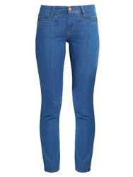 Mih Jeans Paris Mid Rise Slim Leg Cropped Mid Denim