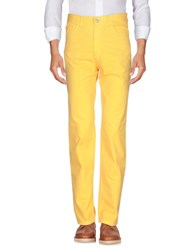 Fred Perry Casual Pants Yellow