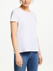 Boden Cotton Back Detail T Shirt White