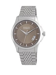 Gucci Stainless Steel Analog Watch Brown
