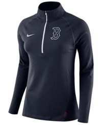 Nike Women's Boston Red Sox Half Zip Element Pullover Navy