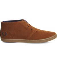 Fred Perry Byron Suede Desert Boots Tan Carbon Blue