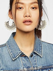 Free People Pearl Stoned Hoops By