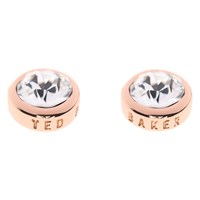 Ted Baker Sina Crystal Stud Earrings Rose Gold Clear