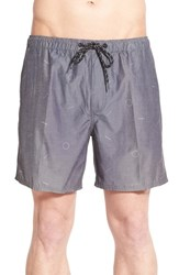 Men's Tavik 'Belmont' Print Swim Trunks Grey