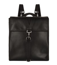 Valentino Flap Front Backpack Black