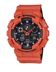 G Shock Resistant Ana Digi Strap Watch Orange