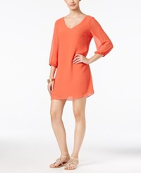 Thalia Sodi Lattice Back Shift Dress Only At Macy's Paprika