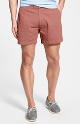 Men's Vintage 1946 'Snappers' Vintage Washed Elastic Waistband Shorts Nantucket Red