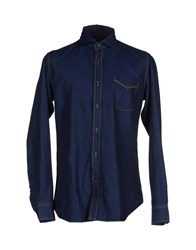 Baldessarini Denim Denim Shirts Men Blue