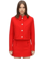 Courreges Short Textured Wool Jacket