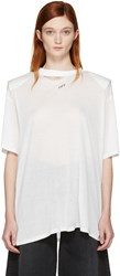 Off White Shoulder Pad T Shirt