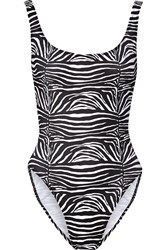 Norma Kamali William Printed Swimsuit Animal Print
