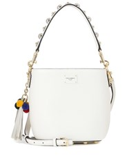 Dolce And Gabbana Leather Bucket Bag White