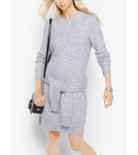 Mohair Ribbed Sweater Dress Pearl Heather