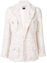 Edward Achour Paris Structured Tweed Blazer White