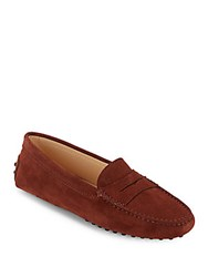 Tod's Cleated Mocassin Style Loafers Brown